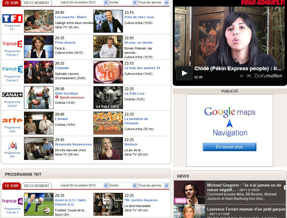Programme Tv.Net
